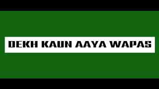 DEKH KAUN AAYA WAPAS - KRSNA (LYRIC   - YouTube