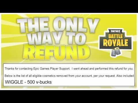 NEW* HOW TO REFUND ITEMS *MAY 25* (Fortnite Battle Royale