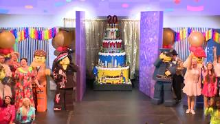 LEGOLAND® California Resort Celebrates 20th Anniversary. Huge Lego Birthday Cake & Dance Party.