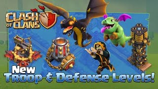 Clash Of Clans NEW Update TROOPS & DEFENSES