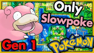 Can I Beat Pokemon Red With ONLY SLOWPOKE? 🔴 Pokemon Challenges ► NO ITEMS IN BATTLE