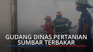Breaking News: Gudang Dinas Pertanian Sumbar di Jalan Teratai Terbakar