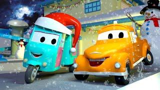 бонбонената кола - Эвакуатор Том в Автомобильный Город  🚗 детский мультфильм