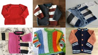 Stylish And Beautiful Hand Kintting Baby Sweaters Designs