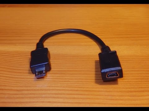 Mini USB to Micro USB Cable Adapter for data and battery charge