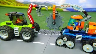 LEGO Cars Excavator, Tractor, Fire Truck & Police Cars | Toy vehicle for kids | Kids Cartoon