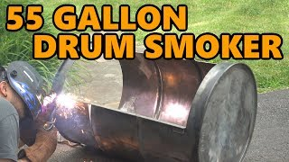 55 Gallon Drum Smoker Build Project