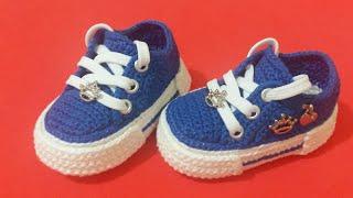 e7649e229 Zapatillas a Crochet para bebes paso a paso tejido tallermanualperu ...