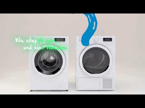 Beko erklärt - Waschmaschine und Trockner stapeln