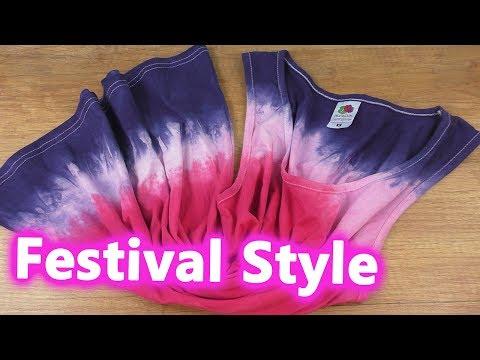 Sommer Top DIY 🌞 Super einfach Kleidung selber färben | Festival Style DIY Idee