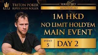 Triton Montenegro 2019 - NLH Main Event €110K - Day 2