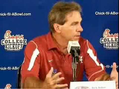 Saban gets irritated (or