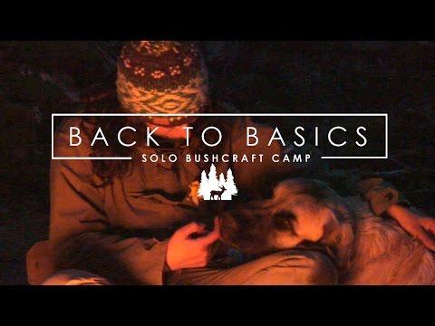 Solo Bushcraft Camp with my dog: back to basics | Acampada bushcraft minimal
