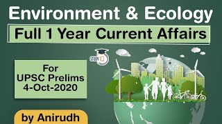 Complete One Year Enviroment & Ecology Current Affairs for UPSC Prelims 2020 - in Hindi #UPSC #IAS