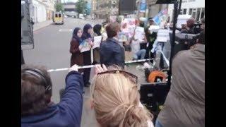 """ویدیوی لو رفته از """"تظاهرات ساختگی مسلمانان"""""""