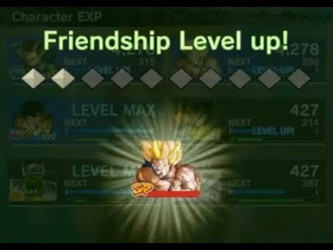 Dragon ball legends How to increase Friendship level ?