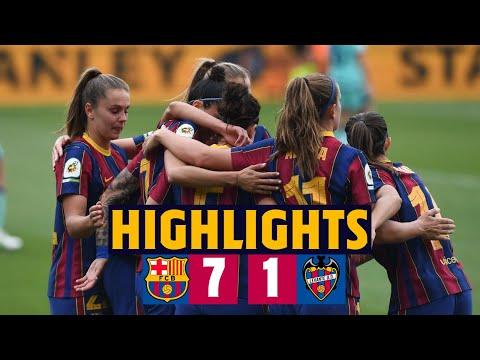 ⚽ GOALS GALORE ALERT!   HIGHLIGHTS | Barça Women 7-1 Levante