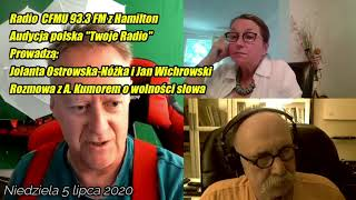 MÓJ SUBSKRYBOWANY KANAŁ – Twoje Radio z Hamilton o wolności słowa