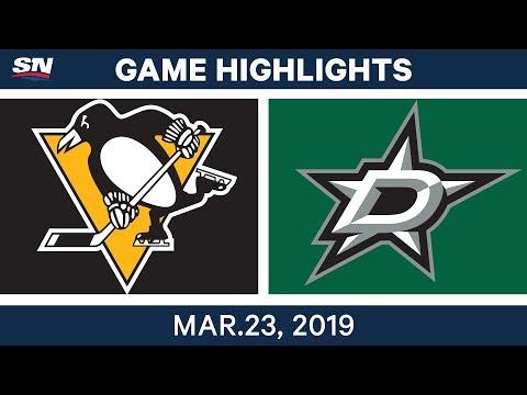 NHL Game Highlights   Penguins vs. Stars – March 23, 2019