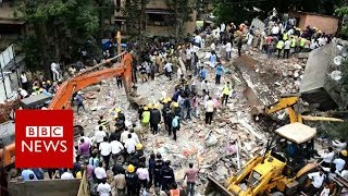 India building collapse: Rescuers search for survivors- BBC News