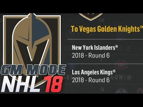 Minor Trades Begin - NHL 18 - GM Mode Commentary - Vegas ep. 3