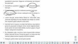 Eğitim Vadisi AYT Edebiyat 19.Föy Hikaye Konu Anlatım Videoları