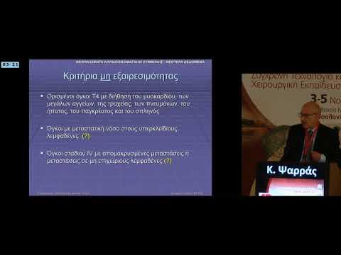 K Ψαρράς - Σε καρκίνο καρδιοοισοφαγικής συμβολής επιθετική