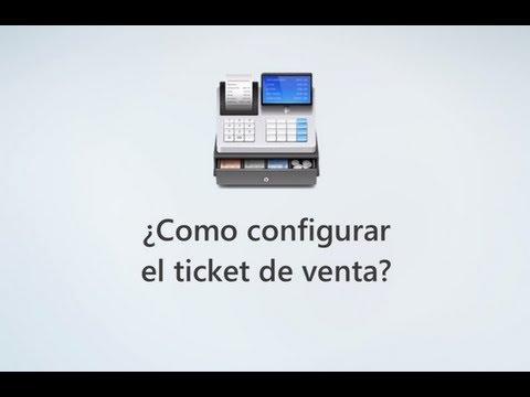 Como configurar el ticket de venta?
