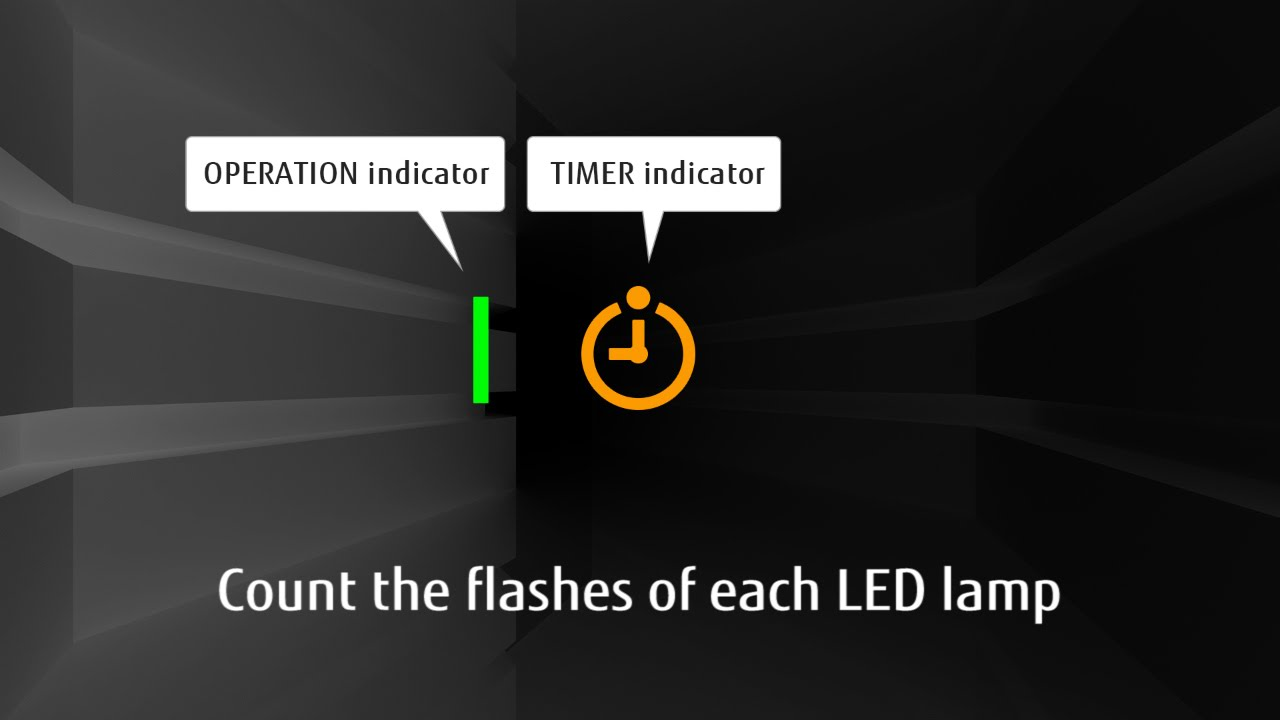 FAQs : Split Systems : The Operation and Timer LED lamp are flashing