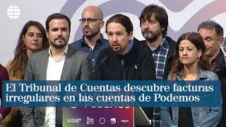 El Tribunal de Cuentas descubre facturas irregulares y sin justificar en las cuentas de Podemos