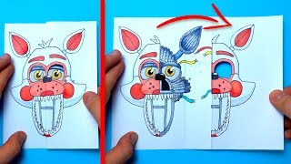 CREATE YOUR FNAF ANIMATRONICS - Funtime Foxy to Endoskeleton POP UP card