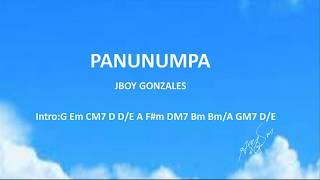PANUNUMPA With Chords And Lyrics
