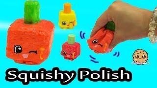 DIY Glow In The Dark Squishy Polly Polish Makeup Shopkins Season 1 Inspired Craft Do It Yourself