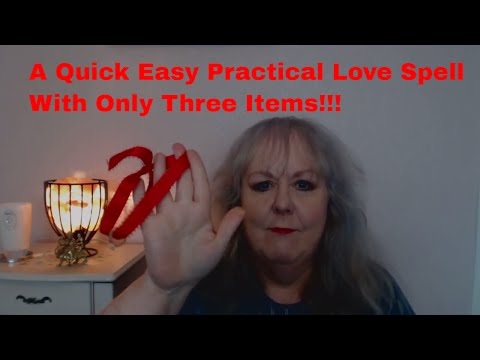 An Easy , Basic, Quick and Practical Love/ Commitment  Spell with only Three Items Needed!!