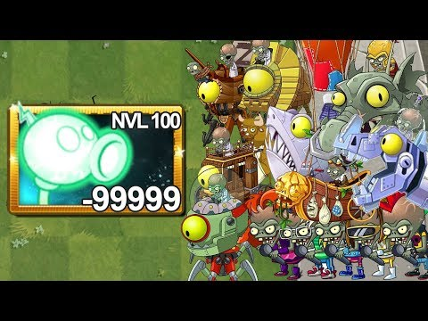 Plants Vs Zombies 2 Lanzaguisantes Nivel 100 Vs Todos los Zombots