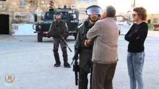 Israeli Occupation Spraying waste water on citizens houses at Al-Nabi Saleh village