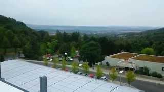 preview picture of video 'A look over Faßberg (Göttingen), Lower Saxony, from the rooftop of the MPI DS'