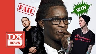 "Young Thug Says MGK Murked Eminem With ""Rap Devil"""