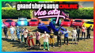 GTA ONLINE RETURN TO VICE CITY SPECIAL - NEW DLC VEHICLES, RARE CARS & TOMMY VERCETTI EASTER EGGS!