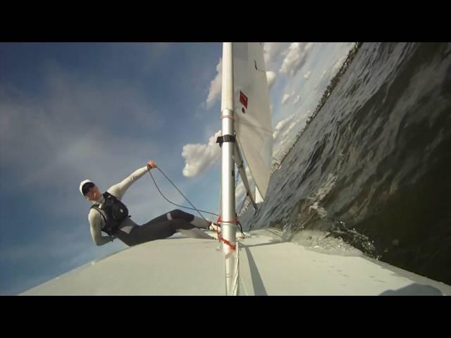 GoPro HD HERO: Extreme laser sailing with slow motion tacks