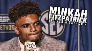 Alabama DB Minkah Fitzpatrick speaks at SEC Media Days 2017