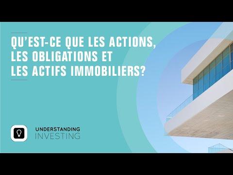 Qu'est ce que les actions, les obligations et les actifs immobiliers?