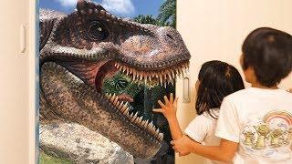 Magic door for kids and Dinosaurs for children