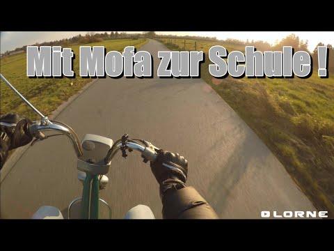 Mit meinem Mofa in die Schule!