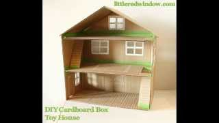 Как сделать ДОМ и МЕБЕЛЬ  из картона  How to make a HOUSE and FURNITURE from cardboard