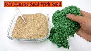 DIY Kinetic Sand with Slime, Ariel, Sand, Glue, Food coloring at Home