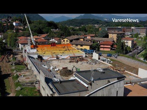 Nel cantiere del palaghiaccio di Varese