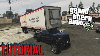 """GTA 5 Tutorial """"How To Load/Haul a Semi Trailer With a Pickup"""""""
