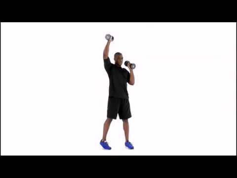 Standing Dumbbell Alternating Shoulder Press and Twist