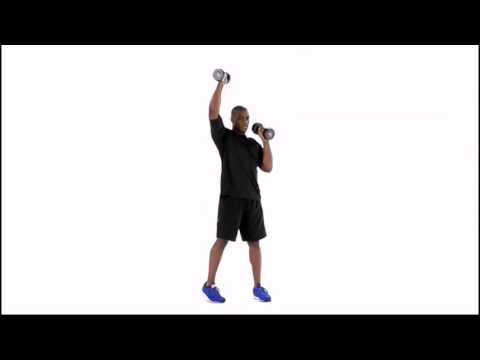 Standing Dumbbell Alternating Shoulder Press and Twist